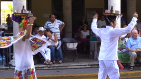 Tray Dance in Merida Yucatan. Video of man and woman performing a tray dance in merida yucatan mexico on 10/11/15 stock video