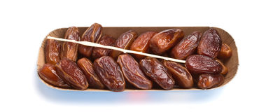 Tray of dates Stock Photo