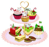 A tray with different baked goods Royalty Free Stock Photography