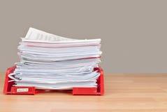 In-tray do admin do negócio Foto de Stock Royalty Free