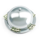 Tray dollars Royalty Free Stock Photo