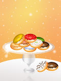 Tray of donuts Royalty Free Stock Image