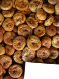 A tray of dry figs Royalty Free Stock Images