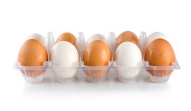 Tray eggs Royalty Free Stock Photography