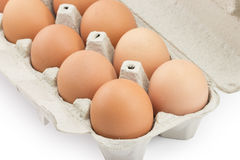 Tray of eggs Royalty Free Stock Photos