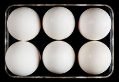 Tray for eggs Stock Photos