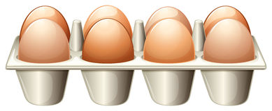 A tray with eggs Royalty Free Stock Photo