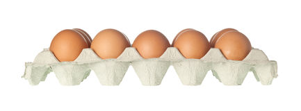 Tray of eggs Stock Image