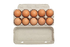 Tray of eggs Stock Photography