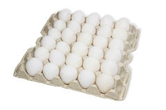 Tray with eggs Stock Photo