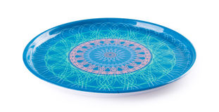Tray. empty plastic tray on a background Royalty Free Stock Photo