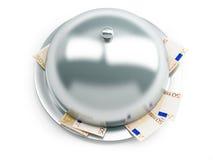 Tray euro money Stock Photo