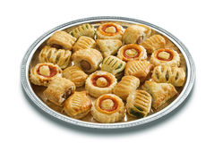 Tray filled with appetizers Royalty Free Stock Images