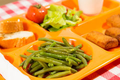 Tray of food Stock Images