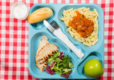 Tray of food Royalty Free Stock Images
