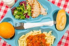 Tray of food Stock Photos
