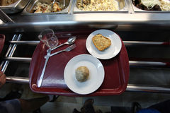 Tray with food Royalty Free Stock Photo