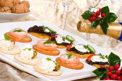 Free Tray Full Of Fresh Canapes Stock Photos - 3725993