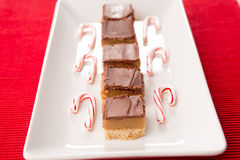 Tray of Home Made Caramel Bar Treats for Christmas Stock Photos