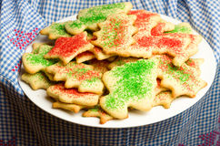 Tray of homemade cookies on a plate Stock Photo