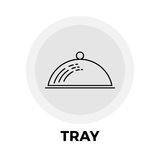 Tray Line Icon Images libres de droits