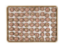Tray with meatballs Royalty Free Stock Photos