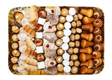 Tray of mixed patisserie Royalty Free Stock Photos