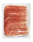 Tray Packaged av Presliced skinka Arkivfoto
