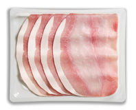 Tray Packaged of Presliced Baked Ham Stock Image