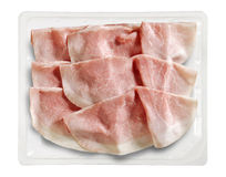 Tray Packaged of Presliced Baked Ham Stock Photography