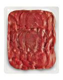 Tray Packaged of Presliced Bresaola Stock Images