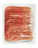 Tray Packaged of Presliced Ham Stock Photo