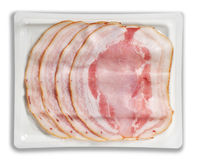 Tray Packaged of Presliced smoked Baked Ham Royalty Free Stock Image