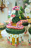 Tray with pedestal for wedding Stock Images