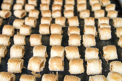 Tray of Pineapple Tart Pastry Stock Image