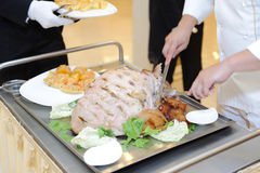 Tray with Pork Royalty Free Stock Images