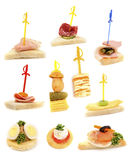 Tray with ready-to-eat fresh sandwiches Royalty Free Stock Images