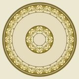Plate lacy round ornament, background, invitation, greeting card. Tray, a round geometric ornament for tea or coffee porcelain plate,trays, dishes and souvenirs stock illustration
