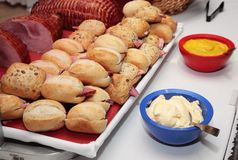 Tray with sandwiches Royalty Free Stock Photos