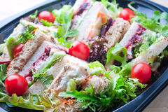 Tray of sandwiches Royalty Free Stock Photo