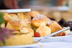 Tray of scones Royalty Free Stock Image