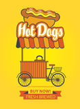 Tray selling hot dogs Stock Image