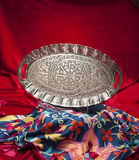 Tray set. Turkish coffee set is an antique cups and ottman stuffs Stock Images