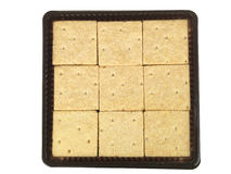 Tray of Shortbread Squares Royalty Free Stock Images