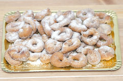 Tray with sugary Doughnuts Royalty Free Stock Photos
