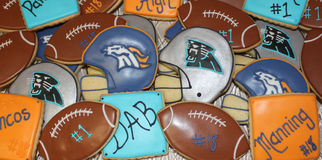 Tray of superbowl 50 cookies Stock Photos