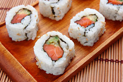 Tray of sushi Royalty Free Stock Photos