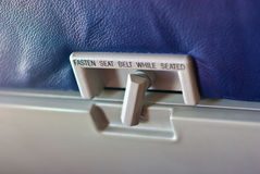 Tray Table Lock. Airplane Seat-Back Tray-Table Lock stock images