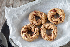 Tray With Taralli Cookies Royalty Free Stock Images