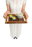 Tray for tea ceremony Royalty Free Stock Images